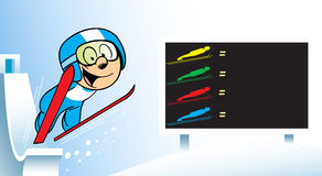 Ski jumping skiing Royalty Free Stock Photos