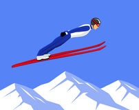Ski Jumping Sports Fotografía de archivo libre de regalías