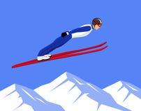 Ski Jumping Sports. Winter Athletic Sports Ski Jumping Vector illustration Royalty Free Stock Photography