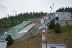 Ski Jumping Springboard in Lillehammer Royalty Free Stock Images