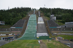 Ski Jumping Springboard in Lillehammer Stock Images