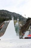 Ski jumping stadium. Erdinger Arena. Oberstdorf, Bavaria, Germany. Stock Photo