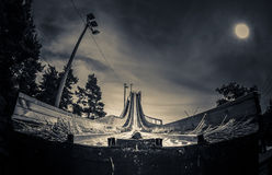 Ski jumping tower Stock Photography