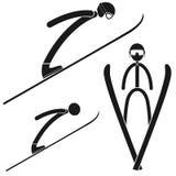 Ski jumping. Vector illustration (EPS 10 Royalty Free Stock Photo
