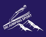 Ski Jumping Winter Sport stock de ilustración