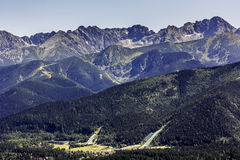 Ski jumps in Zakopane in the summer time Stock Photo