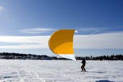 Ski kiting royalty free stock photography