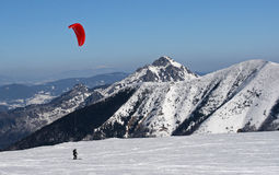 Ski kiting Royalty Free Stock Image