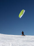 Ski kiting Royalty Free Stock Photos