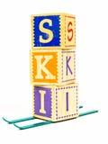 SKI-Konzept Stockbilder