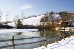 ski le Wisconsin de ressource Images stock