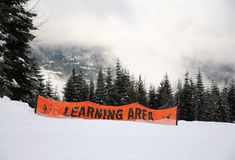 Ski learning area Stock Images