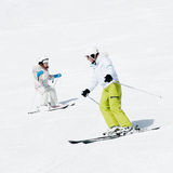 Ski lesson Royalty Free Stock Photos