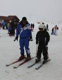 Ski Lesson stockfotos