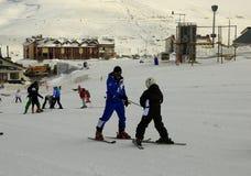 Ski Lesson stockbild