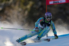 SKI: Lienz Giant Slalom Royalty Free Stock Photography