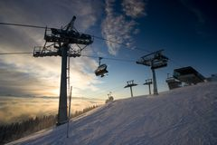 The Ski Lift Stock Image