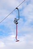 Ski lift. Frozen ski lift under blue sky Stock Image