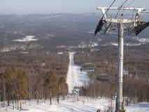 Ski lift. Royalty Free Stock Photos