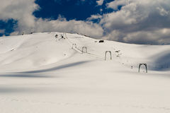 Ski lift. Ski-lift on glacier in a italian mountain Stock Image