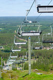 Ski lift. A ski lift on a sunny summer day Royalty Free Stock Images