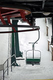 Ski lift. Photo of ski lift in winter Royalty Free Stock Images