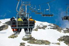 Ski lift Royalty Free Stock Images