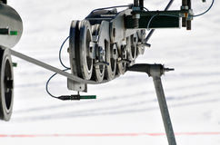 Ski Lift. Wheel/cable system Stock Photo