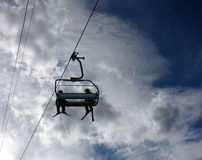 Ski lift. With people Stock Photos