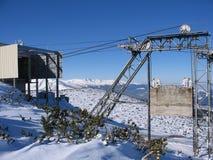Ski lift. (gondola) on mountain Rila, Bulgaria Royalty Free Stock Images