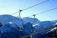 Ski lift. Winter in dolomiten italian alps Stock Photography