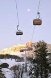 Ski lift. In the dolomites, Alta Badia, Italy Stock Images