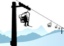 Free Ski Lift Royalty Free Stock Photo - 7405085
