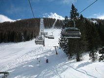 Ski lift. The ski lift in the Alps royalty free stock photography