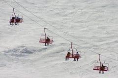 Ski Lift. In Gatlinburg Tn area of the Great Smoky Mountains Royalty Free Stock Photos