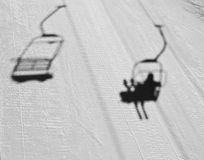 On The Ski Lift Abstract Stock Images