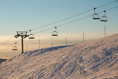 Ski Lift Afternoon Royalty Free Stock Image
