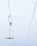 Ski lift against background sky royalty free stock photos