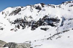 Ski-lift al ghiacciaio di Molltaler, Carinzia, Austria Fotografia Stock Libera da Diritti