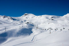 Ski lift in alps Royalty Free Stock Photos