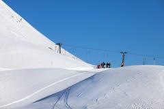 Ski lift in the Alps, Austrian Stock Image