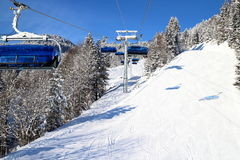 Ski-lift in the alps. A modern ski-lift in the bavarian alps Royalty Free Stock Photos
