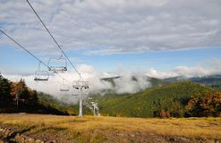 Ski lift in autumn nature Stock Images