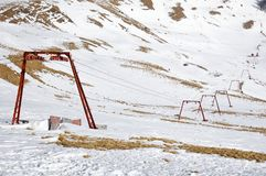 Ski lift Azuga, Sorica Sud Stock Photos