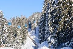 Ski lift in Bansko Stock Images