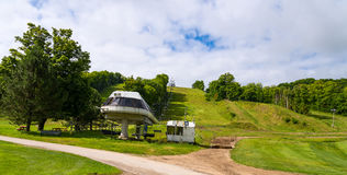 Ski lift Base Stock Photo