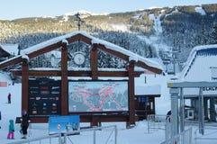Ski lift at Blackcomb mountain base Royalty Free Stock Photography