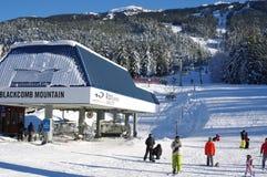 Ski lift at Blackcomb mountain base Royalty Free Stock Photo