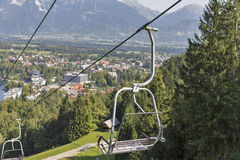 Ski lift in Bled, Slovenia. Stock Image