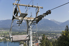 Ski lift in Bled, Slovenia. Stock Photos